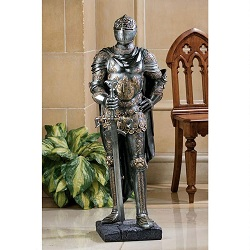 Knight Statue made of metal.